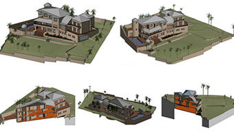 Residential Revit Model and Autocad Drawing